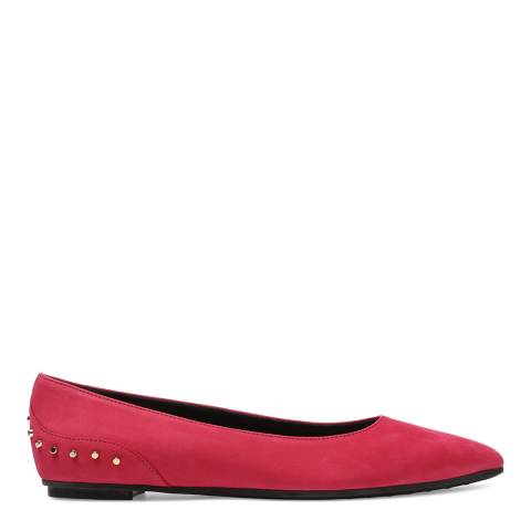Tod's Women's Pink Suede Stud Detail Ballerinas