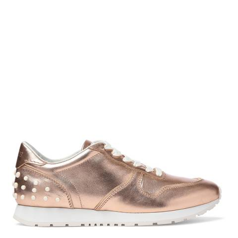 Tod's Women's Rose Gold Leather Sneakers