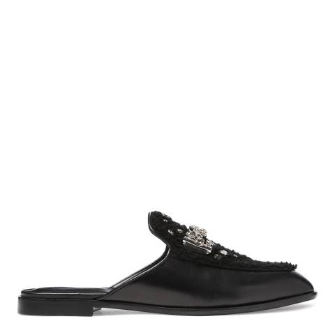 Tod's Women's Black Leather And Shearling Mules