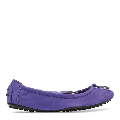 Tod's Women's Purple Suede  Ballet Flats