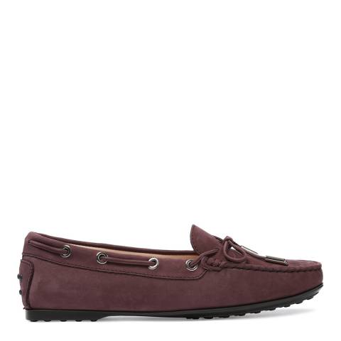 Tod's Women's Violet Suede City Gommino Moccasins