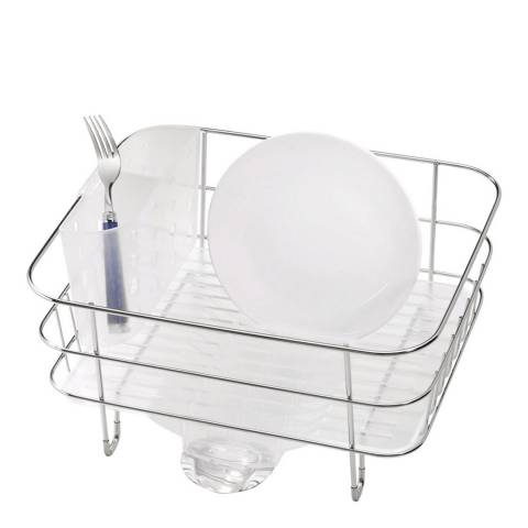 Simplehuman Wire Frame Dish Rack, Brushed Steel & Frosted Plastic