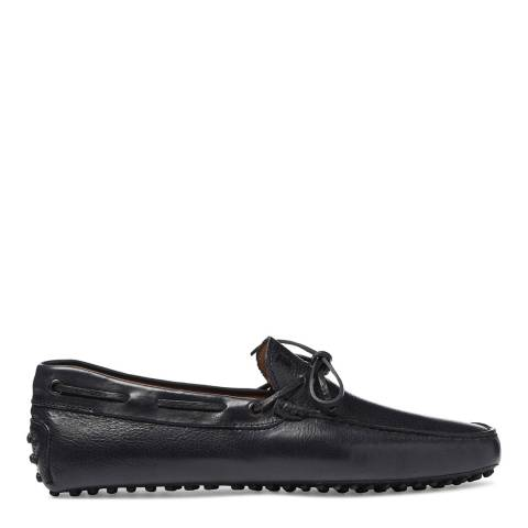 Tod's Men's Dark Navy Leather Lace Tie Loafers