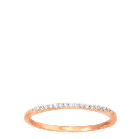 Liv Oliver Rose Gold/Clear Ring