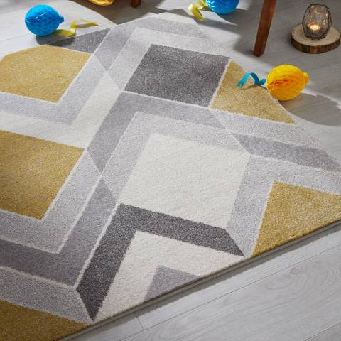 Plantation Rug Company Yellow/Grey Madrid 01 160x230cm Rug