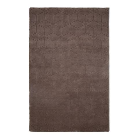 Plantation Rug Company Brown Illusory Rug 120x170cm