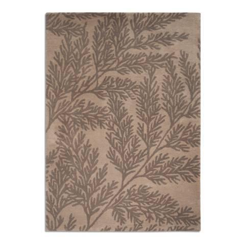 Plantation Rug Company Taupe/Grey Leaf Rug 120X170cm