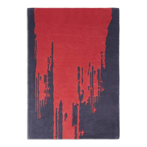 Plantation Rug Company Red Punk 01 120x170cm Rug