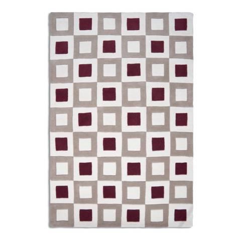 Plantation Rug Company Wine/Beige Square Pants Rug 150x230cm