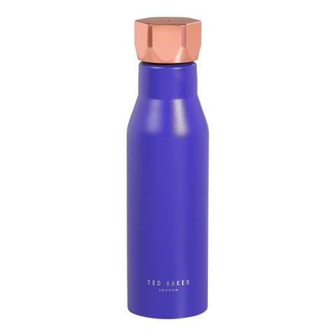 Ted Baker Electric Blue Sapphire Water Bottle Hexagonal Lid