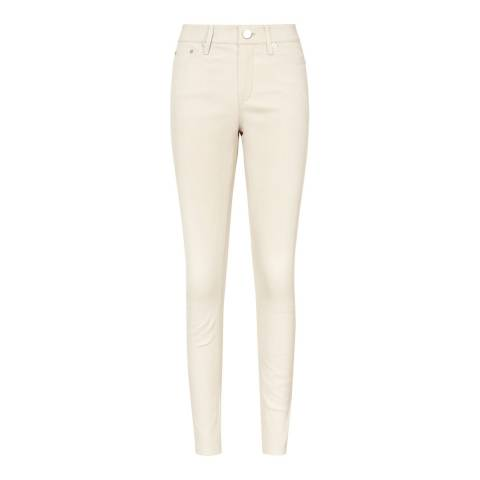 Reiss Off White Dani Leather Jeans