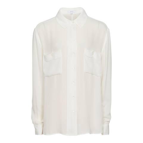Reiss Off White Lilia Silk Blouse