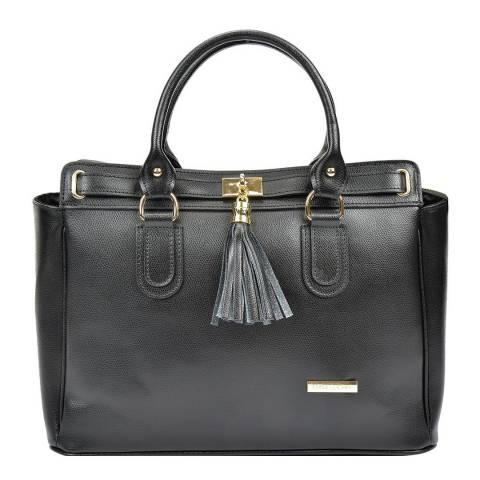 Anna Luchini Women's Black Anna Luchini Top Handle Bag