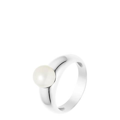 Mitzuko White/Silver Pearl Ring