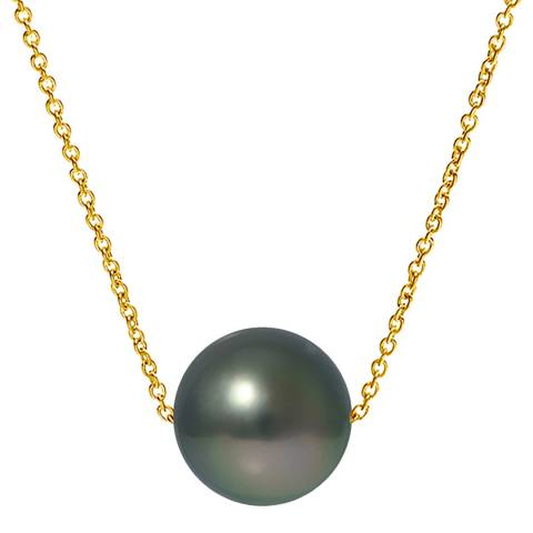 Mitzuko Black Tahitian Pearl Necklace