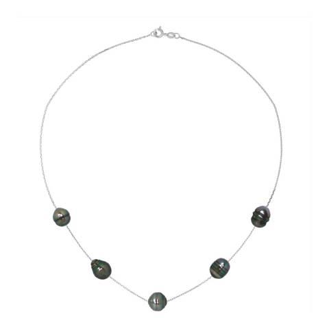 Mitzuko Black/White Gold Pearl Necklace