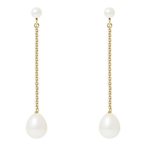 Mitzuko White Pearl Earrings