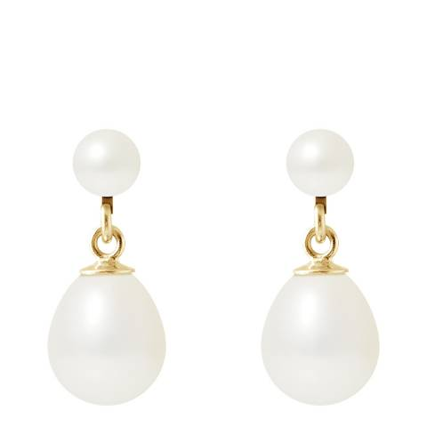 Mitzuko White Double Pearl Earrings
