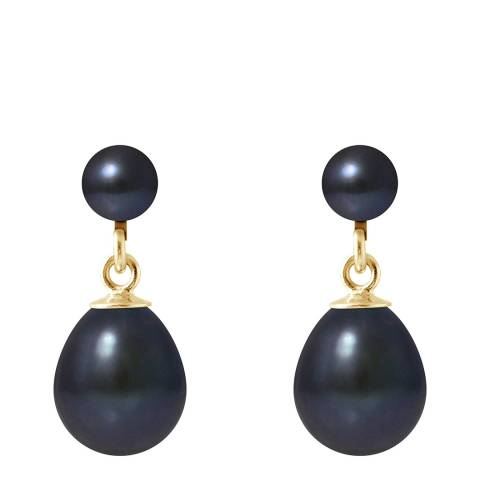 Mitzuko Black Double Pearl Earrings