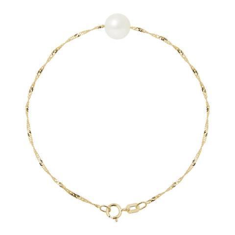 Mitzuko White/Gold Pearl Bracelet