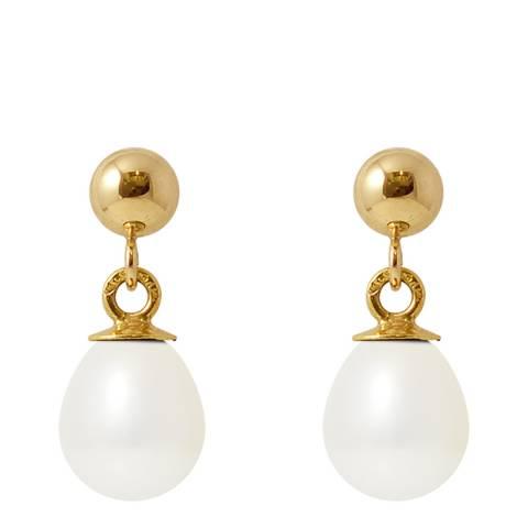 Mitzuko White/Gold Pearl Earrings