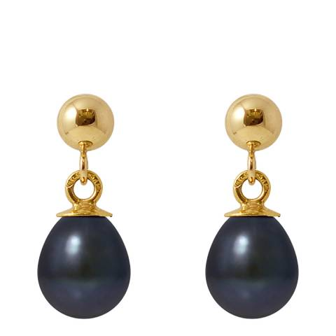 Mitzuko Black/Gold Pearl Earrings