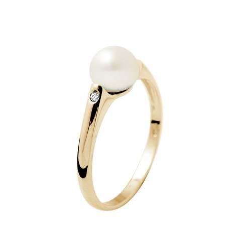 Mitzuko White/Gold Pearl Ring