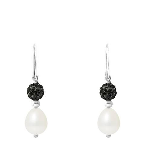Mitzuko White/Black Pearl Earrings