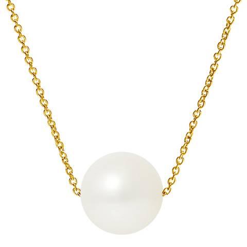 Mitzuko White/Gold Pearl Necklace