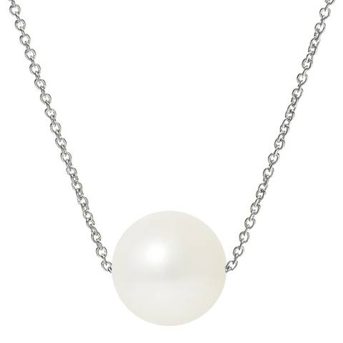 Mitzuko Silver/White Pearl Necklace