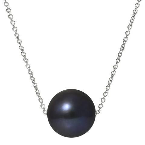 Mitzuko Black/Silver Pearl Necklace