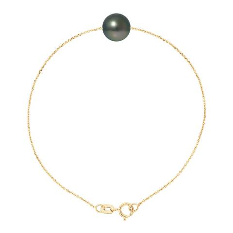 Mitzuko Black/Gold Pearl Bracelet