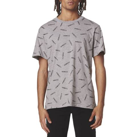 Fiorucci Men's Grey Melange Cotton Logo T-Shirt