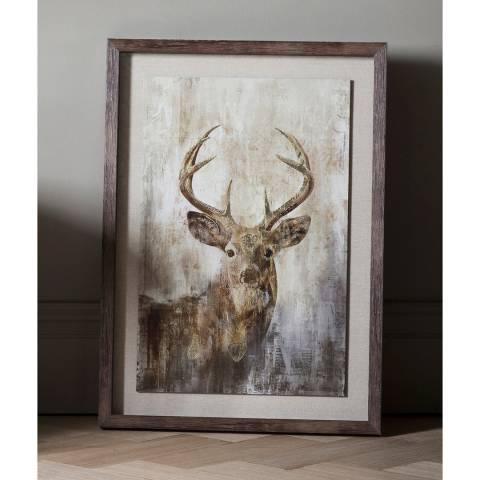 Gallery Highland Stag Framed Art 54x74cm