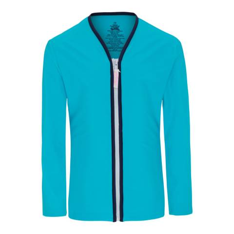 Platypus Australia Blue Piped Long Sleeves Sun Jacket