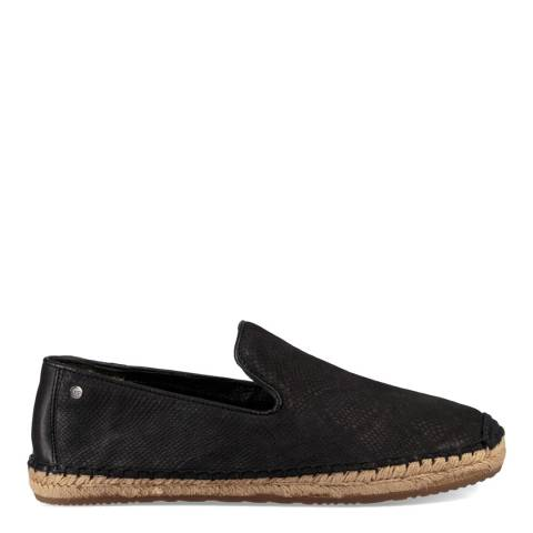 UGG Women's Black Calf Hair Scales Sandrinne Espadrilles