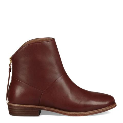 UGG Mid Brown Leather Bruno Ankle Boots