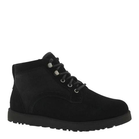 UGG Black Suede Bethany Lace-Up Boots