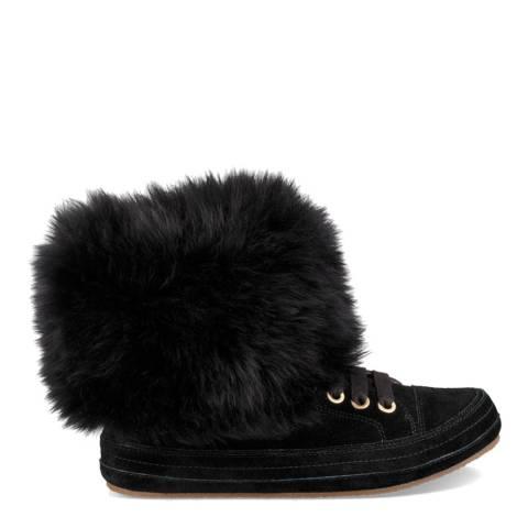 UGG Black Suede  Antoine Fur Ankle Boots
