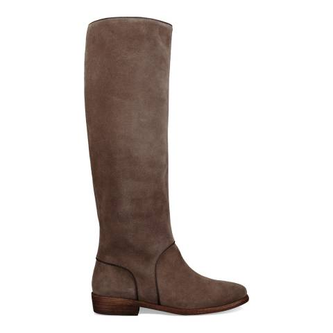 UGG Mouse Taupe Suede Gracen Calf Boots