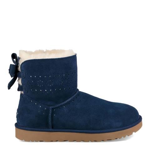 UGG Navy Blue Suede Dae Sunshine Boots