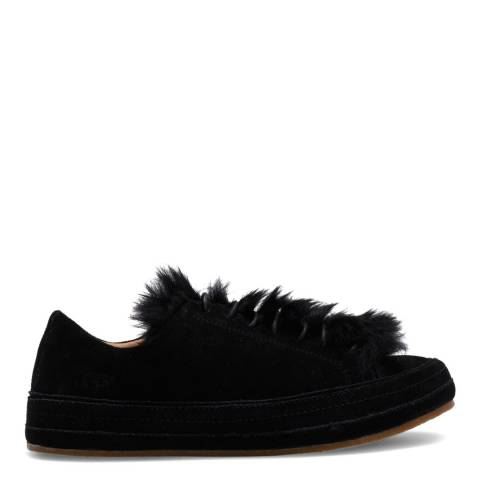 UGG Black Suede Blake Fur Sneakers