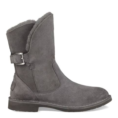 UGG Charcoal Grey Suede Jannika Boots