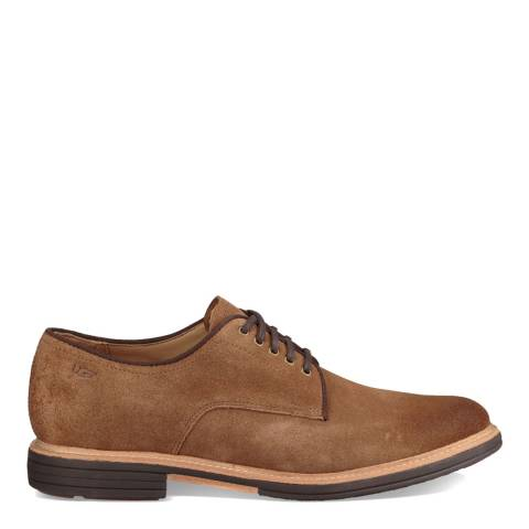 UGG Chestnut Suede Jovin Lace Up Oxford Shoes