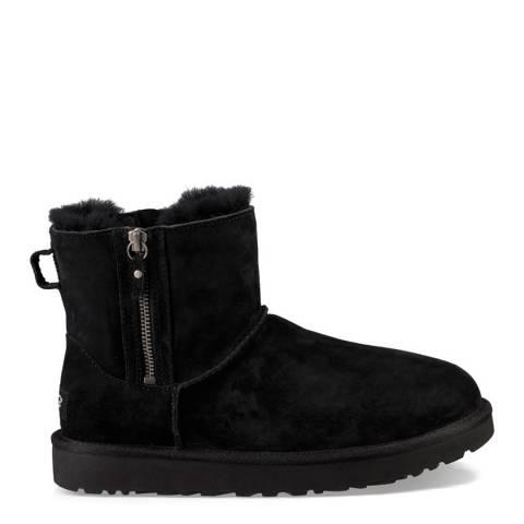 UGG Black Sheepskin Classic Mini Double Zip Boots
