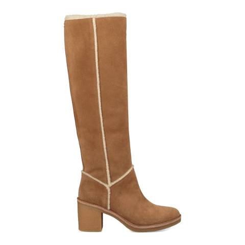 UGG Chestnut Sheepskin Kasen Tall Calf Boots