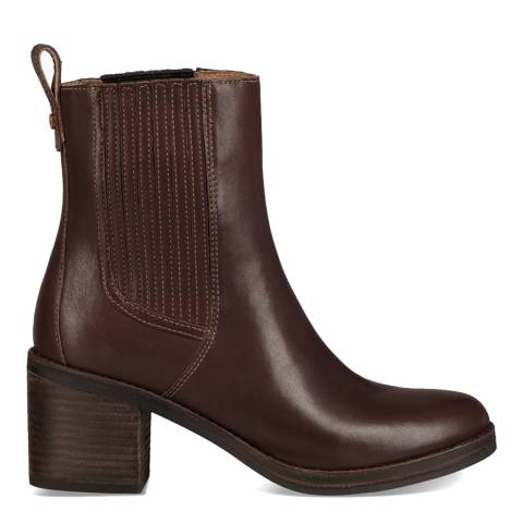 UGG Brown Leather Camden Chelsea Boots