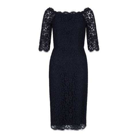 Hobbs London Navy Miller Dress