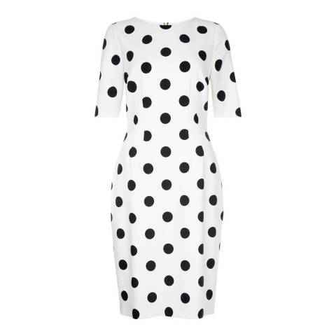 Hobbs London Ivory/Black Astraea Dress