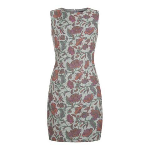 Hobbs London Grey/Multi Lucia Print Dress